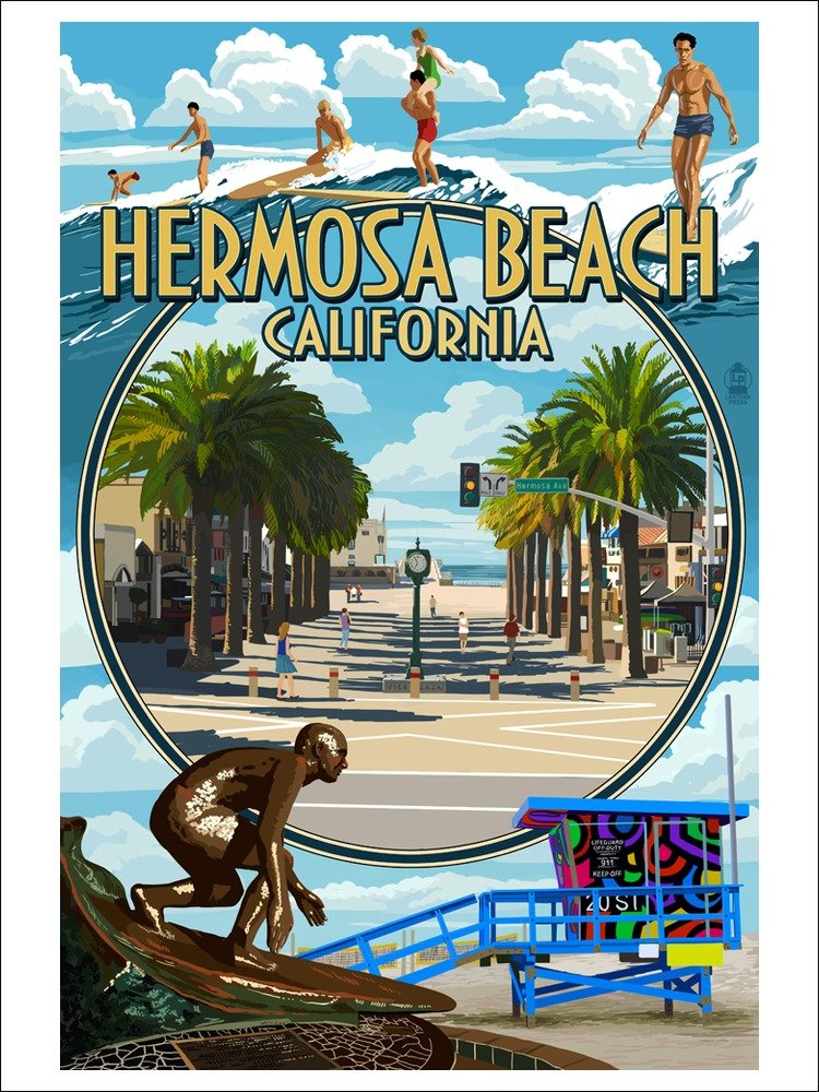 Hermosa Beach, California Poster
