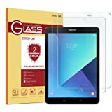 [2 Pack] Samsung Galaxy Tab S3 / Galaxy Tab S2 9.7 Glass Screen Protector, OMOTON Tempered-Glass Protector with [9H Hardness] [Crystal Clear] [Scratch-Resistant] [Bubble Free Easy Installation] (Color: Clear)