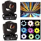 Ridgeyard 2x 7R 230w Moving Head Zoom Light DMX 16CH Beam Wash Spot Gobo Light DJ Disco Club Party Wedding Stage Effect Lighting (Color: 2 PCS, Tamaño: 230W)