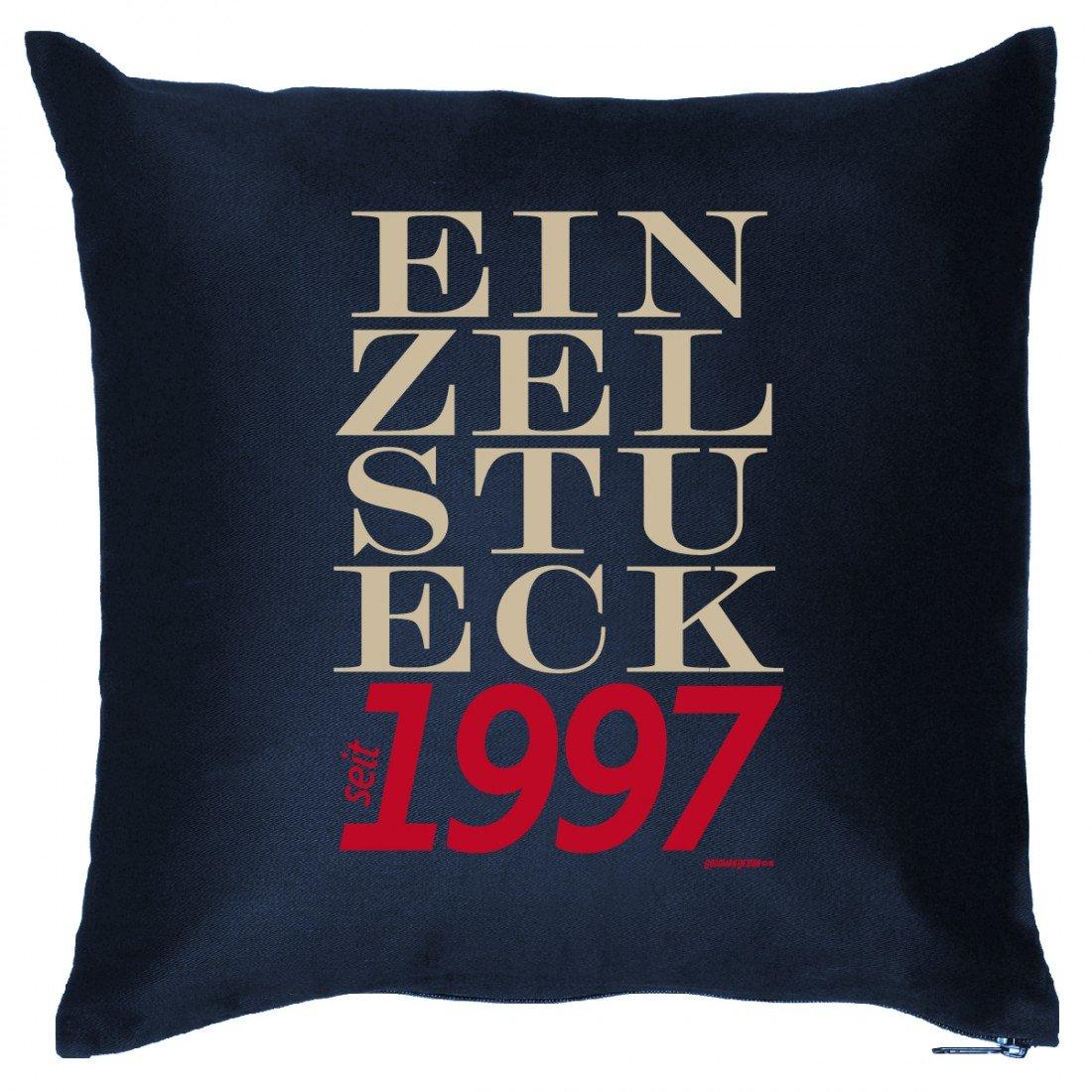 Couch Kissen mit Jahrgang zum Geburtstag – Einzelstück seit 1997 – Sofakissen Wendekissen mit Spruch und Humor jetzt kaufen