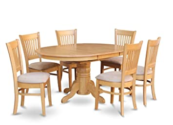 East West Furniture AVVA5-OAK-C 5-Piece Dining Table Set