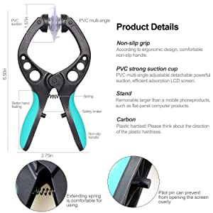 Kaisi Electronics Screen Opening Tool Kit Cellphone Suction Cup Pliers Repair Kit Compatible for iPhone, iPad, iMac, Laptops, Tablets and More Screen