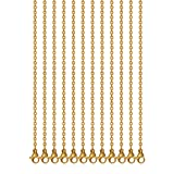 24 Inch 3MM Stainless Steel Gold Plated Link Cable Chain Necklaces for Jewelry Accessories DIY Making, Pack of 12 (Color: Gold Plated, Tamaño: 24 inches (3mm))