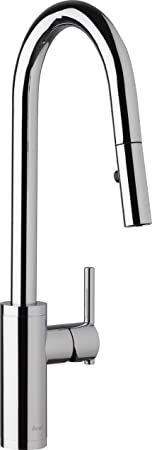 Danze D454058 Modern Parma Cafe Pull-Down Kitchen Faucet with Snapback Retraction, , Chrome