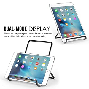 Adjustable Portable Metal Holder Cradle for 9-12.9 Tablets MoKo Foldable Tablet Stand iPad Pro 11 2018//10.5//9.7 Black Samsung E 9.6//Tab A 10.1 Fit New iPad Air 3rd Gen,New iPad Pro 12.9 2018