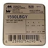 Hammond 1590LBGY Gray Diecast Aluminum Enclosure -- Inches (1.99