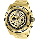 Invicta Marvel Limited Edition 26794 Captain America Quarts 52mm Gold Case Black Dial Men's Watch