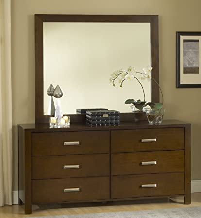Modus Furniture International Riva 6-Drawer Dresser, Chocolate Brown