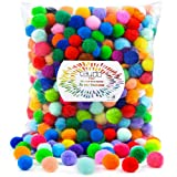 Caydo 400 Pieces 1 Inch 20 Colors Pompoms Arts and Crafts Pom Poms Balls for Hobby Supplies and Creative Craft DIY Material