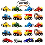 DIMY Toys for 3-6 Year Old Boy, Pull Back Cars 20 Pcs Gift Pack for Toddlers Infants Educational Toys Gifts Mothers Day Gifts PULL03 (Color: Old Version)