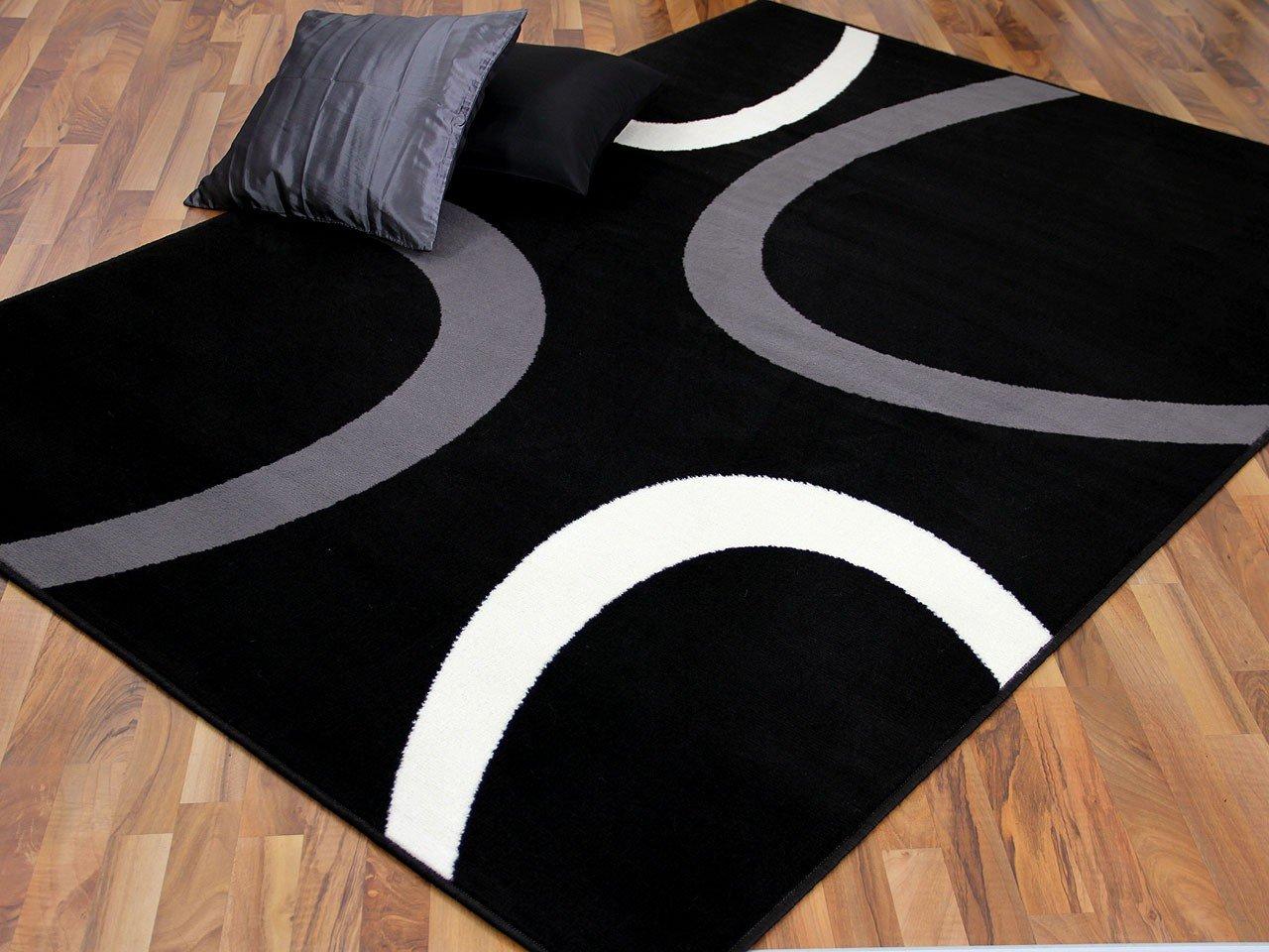 Teppich Trendline Schwarz Kreise in 4 Größen    Bewertungen und Beschreibung
