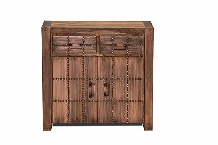 SIT-Möbel 2709-04 Kommode Sahara, 2 Holzturen, 2 Schubladen, circa 90 x 40 x 85 cm