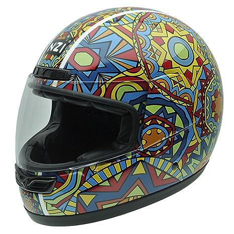 NZI 050268G706 Class Jr Graphics Lunapark, Casque de Moto, Taille M Multicolore