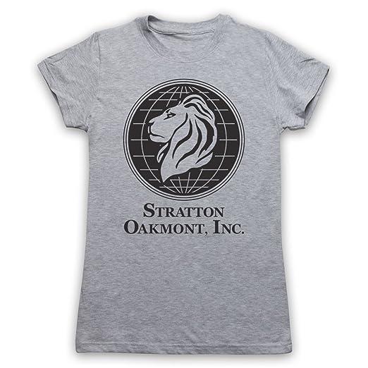 Inspirado por Wolf Of Wall Street Stratton Oakmont Inc No Oficial Camiseta para Mujer, Gris Claro, Large