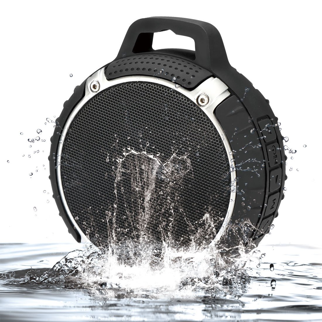 1byone Outdoor / Shower Portable Bluetooth 4.0 Speaker with Enhanced Bass, IPX6 Waterproof & Built-in Mic, Black