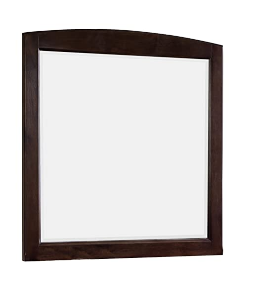 American Imaginations Rectangle Shape Traditional Wood Mirror, Comes with a Lacquer-Stain Finish in Walnut Color