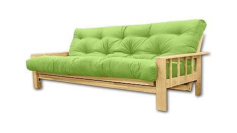 Convertible Vienna , futon verte pomme, 207x100x30 cm