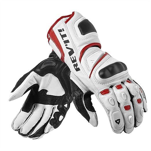 FGS092 - 3200-XL - Rev It Jerez Pro Motorcycle Gloves XL White/Red