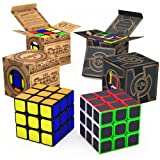 aGreatLife Speed Cube Brain Teaser Bundle: Set of Two 3x3 Speed Cube - All-Time Favorite Brain Teaser Puzzles - Best Cube Game Gifts for Kids and Adults