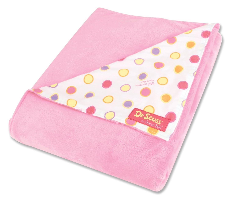 Pink & Polka Velour Receiving Blanket