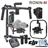 DJI Ronin-M 3-Axis Gimbal Stabilizer (Version 3) Advanced Bundle: Includes Wireless Thumb Controller, Grip for Ronin-M, Magnetic DJI Lapel Pin and more (Color: Ronin-M, Tamaño: Grip Kit + Wireless Thumb Controller)
