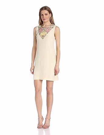 Candela Women's Tucker Dress, Off White, Small