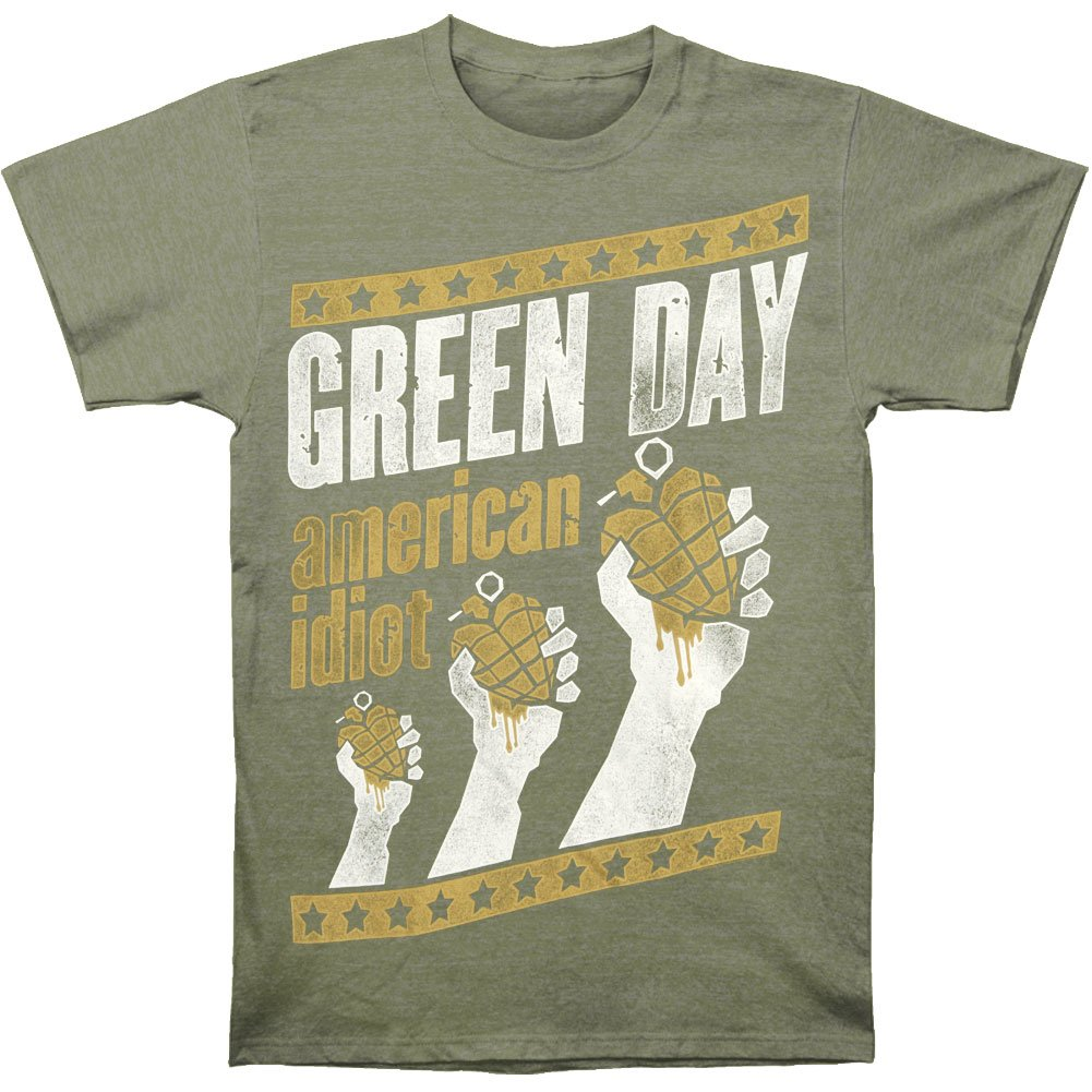 Green Day Men's Handout Vintage T-shirt Green 0