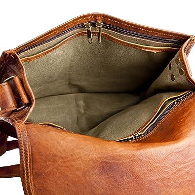 fc05886982e2 ... Fast delivery 81stgeneration Sac à bandoulière en cuir véritable épaule  main Sac Vintage Casual Dark Marron