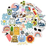 VSCO Vinyl Stickers for Water Bottles,35Pack Waterproof Aesthetic Trendy Stickers for Teens Girls (Color: Series-7)