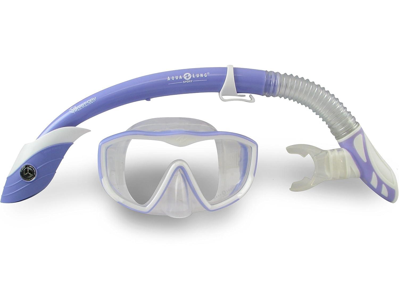 Aqua lung snorkel set here
