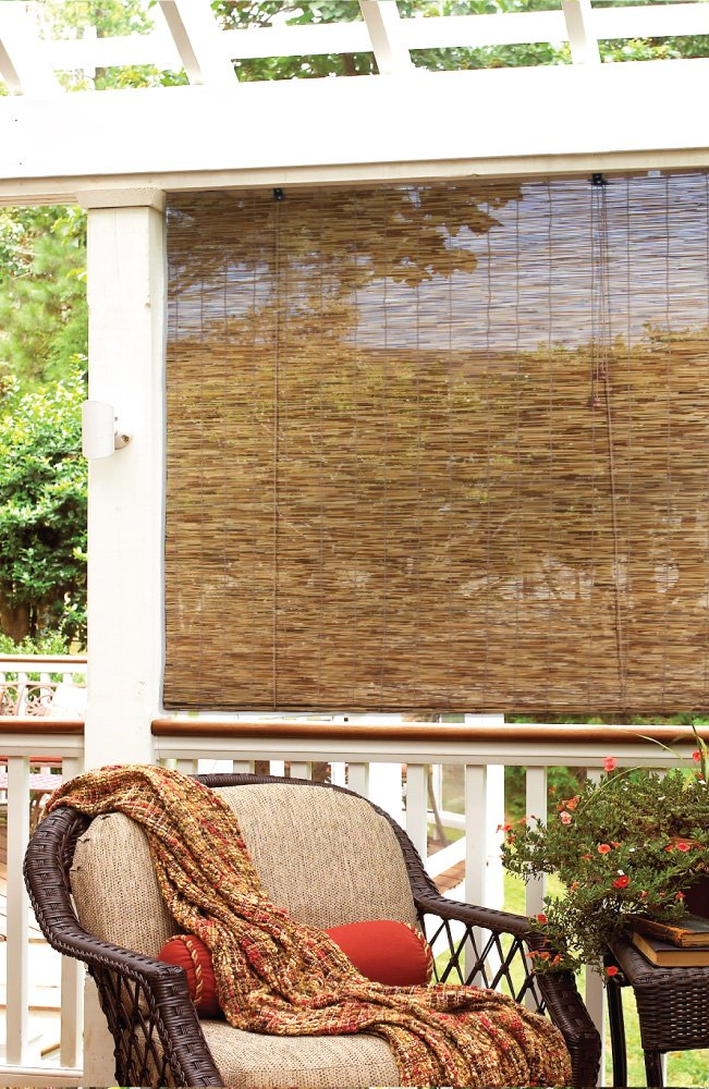 Bamboo Roll Up Window Blinds Patio Porch Sunroom Indoor