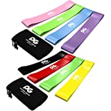 Physix Gear Sport Resistance Loop Bands Set 4 - Best Home Fitness Exercise Bands for Legs, Crossfit Workout, Physical Therapy, Pilates, Yoga & Rehab - Improve Mobility and Strength - 10in x 2in BGYR (Color: (Set of 4) 10in x 2in (Yellow + Red + Black + Green), Tamaño: 10in x 2in)