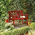 Pötschke Ambiente Garten-Sitzbank Sonnenschein, rot von Pötschke Ambiente bei Gartenmöbel von Du und Dein Garten