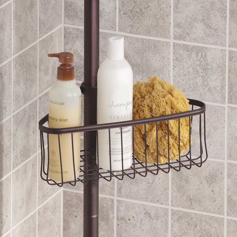 Interdesign york shower and bath tension caddy bronze for Interdesign york