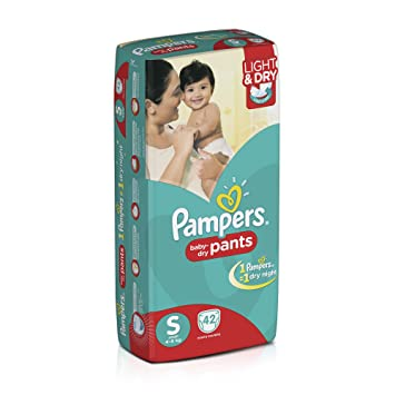 Image result for Pampers Small Size Diaper Pants (Pack of 42)