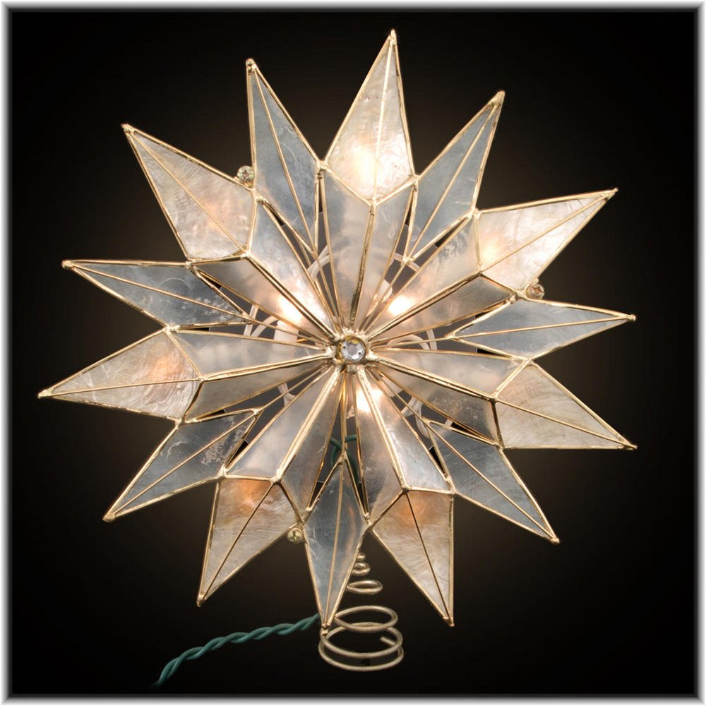Christmas Stars Gold Tree Toppers | Christmas Wikii