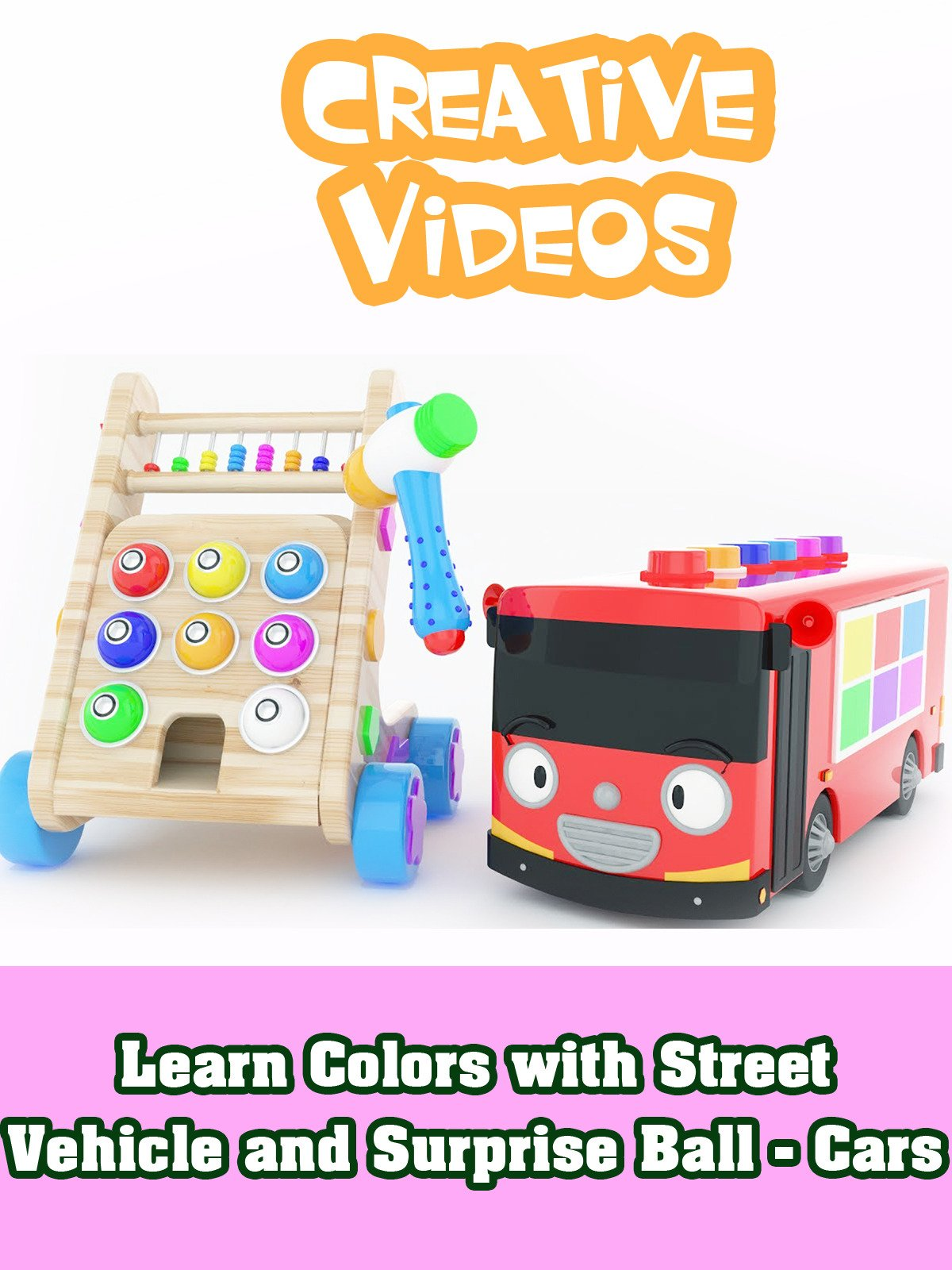 Learn Colors with Street Vehicle and Surprise Ball