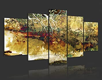 impression sur toile 200x100 cm cm grand format 5 5 parties image sur toile images. Black Bedroom Furniture Sets. Home Design Ideas