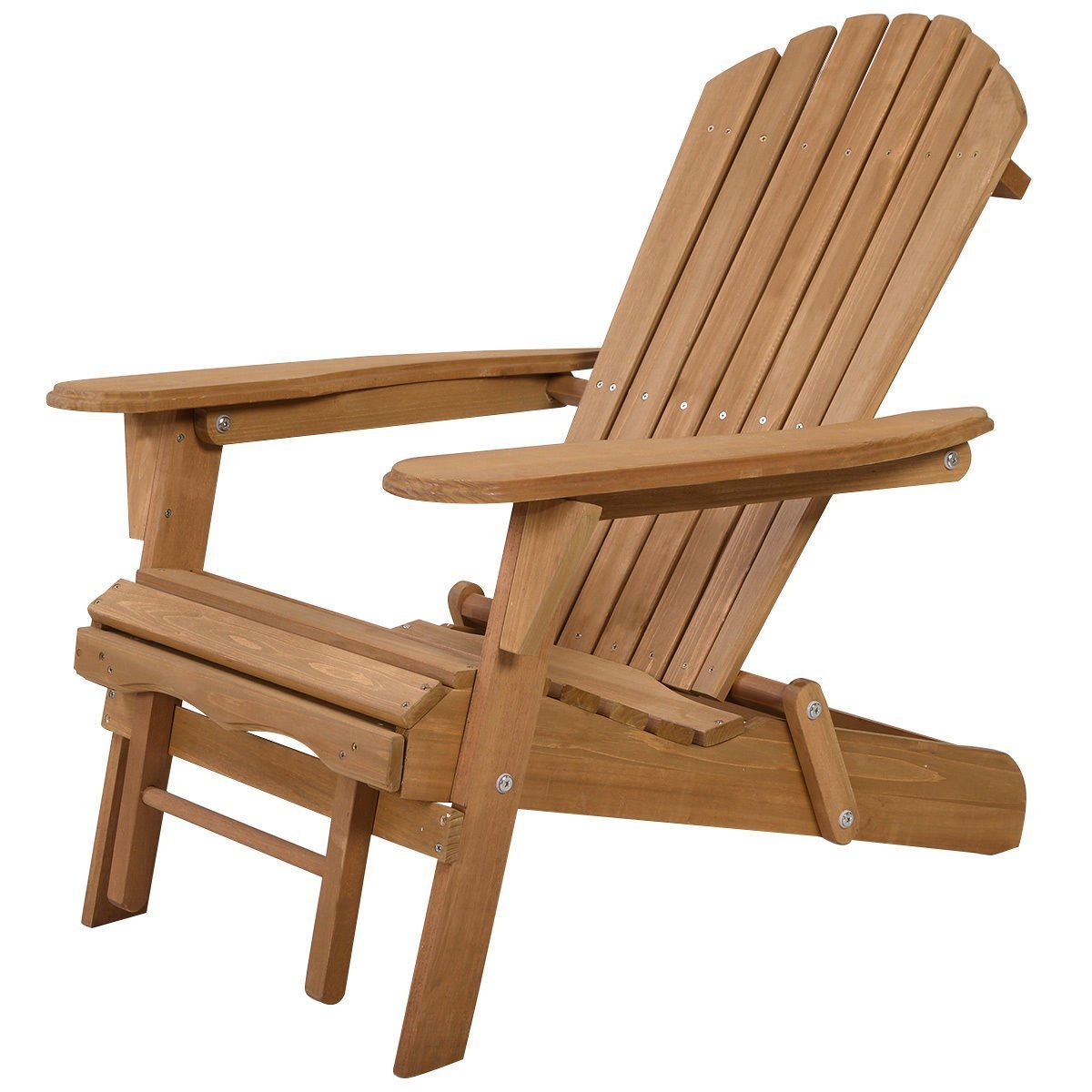 Giantex New Outdoor Foldable Fir Wood Adirondack Chair Patio Deck Garden Furniture ¡­ (earthy yellow)