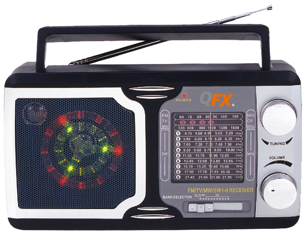 QFX R14 Retro Collection AM/FM/SW 1-9 Radio 0