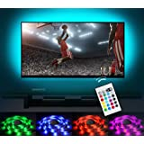 Bias Lighting LED TV Backlight Strip Emotionlite USB Powered Multi Color Changed (16 Colors) RGB Tape for 60