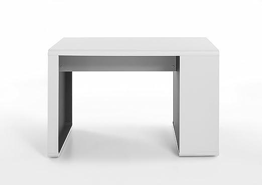 Robas Lund Schreibtisch Tadeo weiß/ anthrazit 59 x 119 x 76 cm