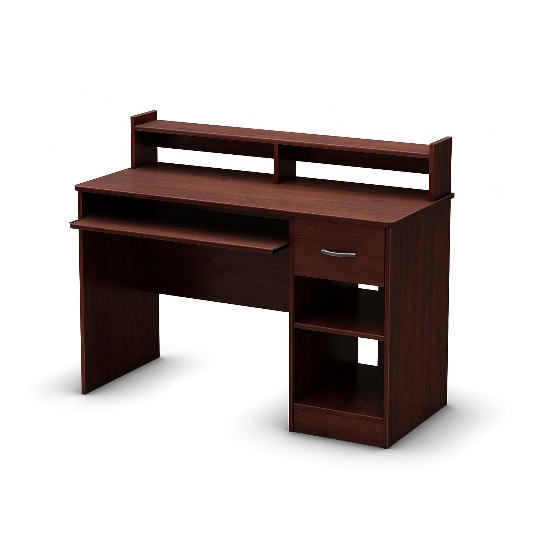 Computer Desk With Sliding Keyboard Tray Book Shelf Hutch