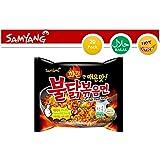 Samyang Instant Ramen Noodles, Halal Certified, Spicy Stir-Fried Chicken Flavor (Pack of 20) (Tamaño: 20 Count)