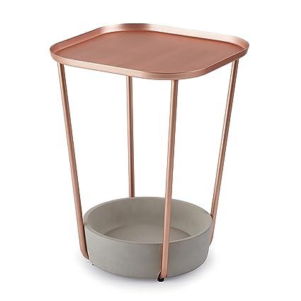 Umbra Tavalo - Mesilla hormigón en cobre