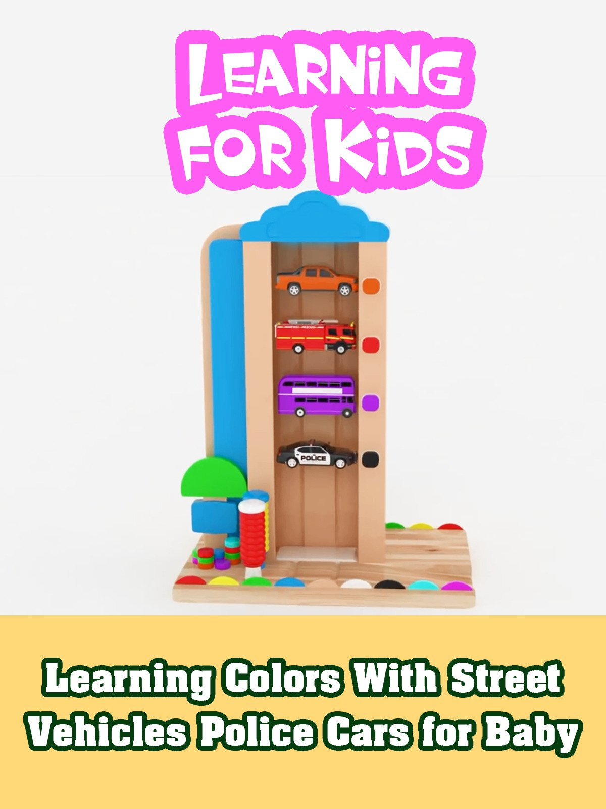 Learning Colors With Street Vehicles Police Cars for Baby