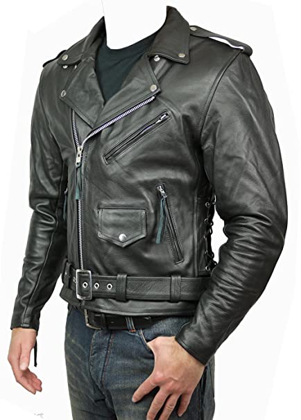 AZ qualité Brando Coque Harley Davidson cuir JacketIn tout Custom Size's