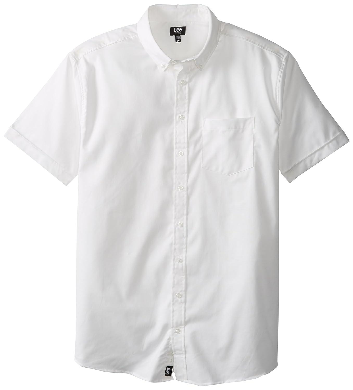 Lee uniforms men 39 s big tall short sleeve oxford shirt for Big and tall oxford shirts