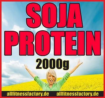 Soja Protein vegan vegetarisch Soja-Isolat 2000g Eiweiß Vanille von allfitnessfactory