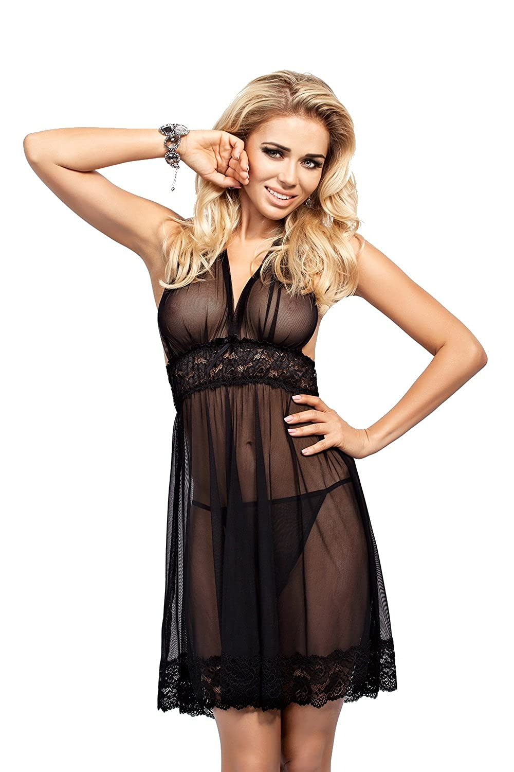 Lady-Mode Dessous-Set Wäsche-Set aus Tüll Eryka (XS - 2XL)